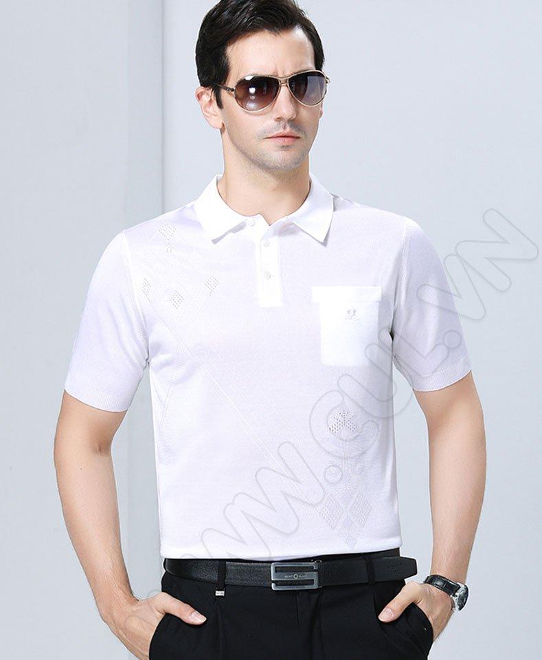 áo mông tơ ghi - trắng