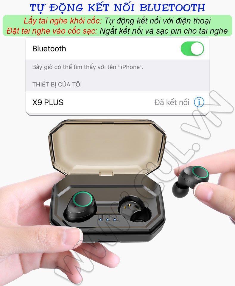 Tai nghe Bluetooth ASONIC X9 Plus - Tự Động Kết Nối Bluetooth