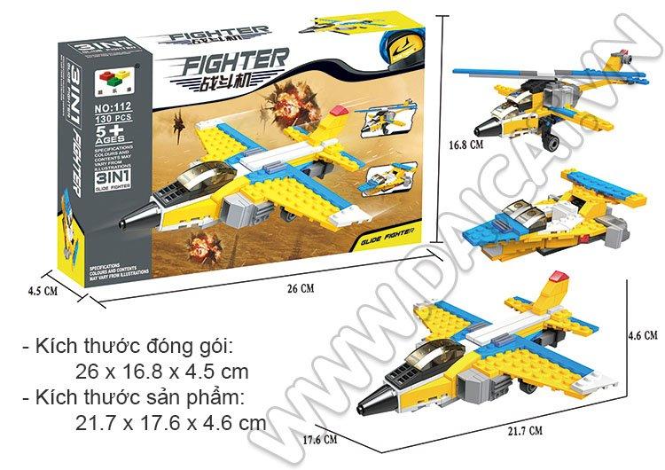 Lego Máy Bay Chiến Đấu - Kích Thước Vỏ Hộp